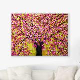cherry tree art print on canvas by Julia Bars
