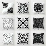Sofa pillows in black and white by Julia Bars