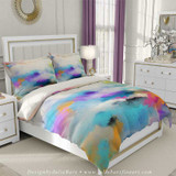 abstract colorful duvet cover in blue and purple by Julia Bars