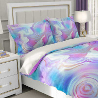 duvet cover in purple, pink and blue by Julia Bars Art