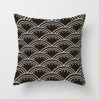 dark brown pillow cover