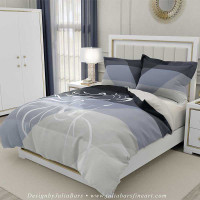 horse duvet cover in black and gray
