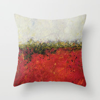 abstract cushions, red and white throw pillow cover