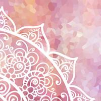 Pink and White Mandala Duvet Cover, Pillow Cases, Boho Comforter Cover, Girl Bedroom