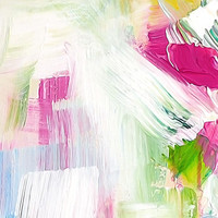 close up image of the original abstract painting by Julia Bars