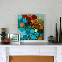 abstract art print by Julia Bars on the wall