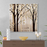 large giclee print, tree art in brown and beige