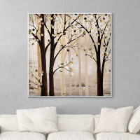 abstract trees wall art, brown and beige