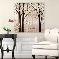 Brown Beige Abstract Painting, Tree Art, Large Giclee Print