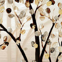 close up fragment of the original tree painting