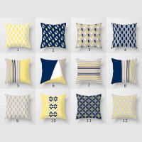 blue and yellow throw pillows for couch