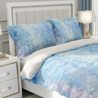 Blue Abstract Duvet Cover and Pillow Shams