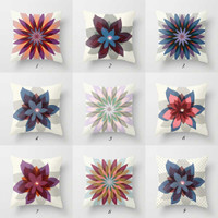 colorful floral pillows by Julia Bars