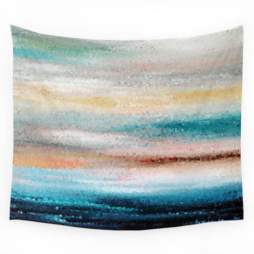 Coastal home decor, wall tapestry