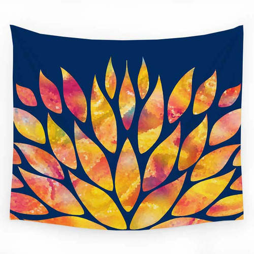 Abstract modern wall hanging tapestry, dorm decor.