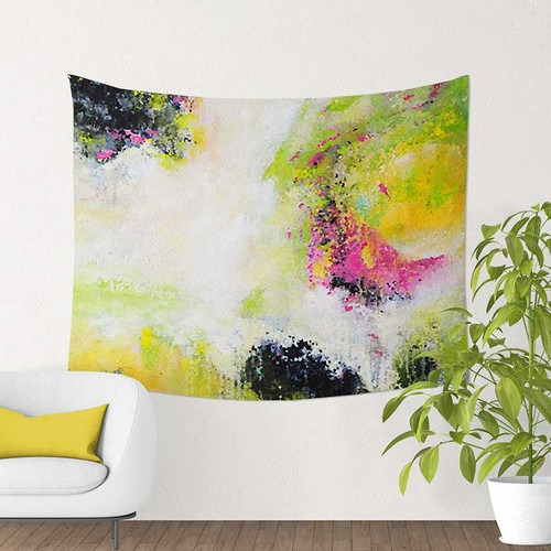 abstract art tapestry wall hanging by Julia Bars