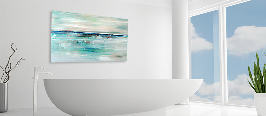 abstract seascape print, coastal art by julia bars