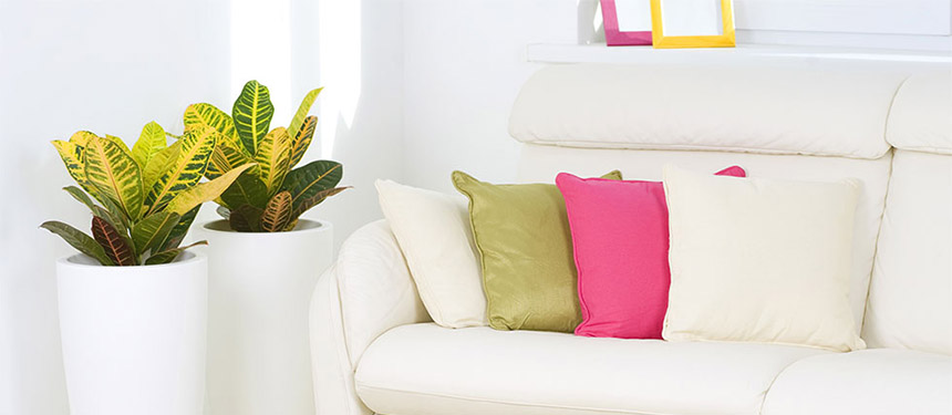 colorful throw pillows by julia bars