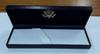 New Navy Leatherette Box/Gold Logo