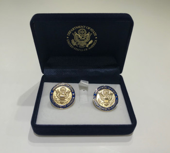 DOS Cufflinks in Gold or Silver Finished