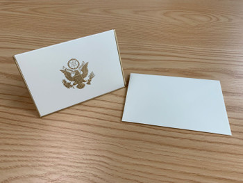 5 Emboss Gold Great Seal with Gold border Note Card