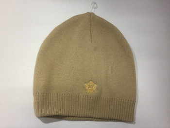 Knit Beanie / Great Seal Embroidered