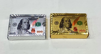 Playing Cards - Gold or Silver $100 Bill