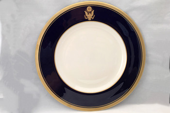 "Cobalt Blue Rim Dinner Plate 10 5/8"""