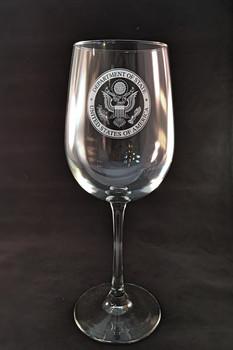 Tall Wine Glass/DOS Logo