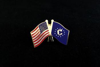Consular Logo/US Flag Lapel Pin