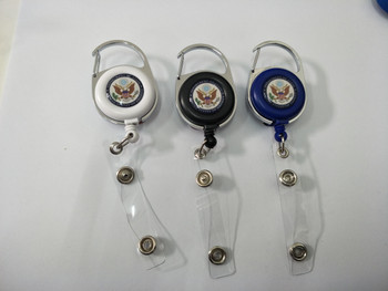 Round Carabiner Badge Reel with Reinforced Strap/DOS Logo