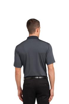 Fine Stripe Performance Polo Shirt/DOS Monotone color Embroidered