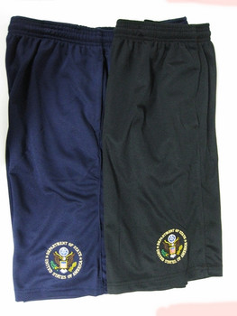 Mesh Short with Pocket/DOS Embroidered