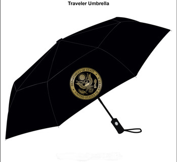 Umbrella/DOS Logo in gold imprint