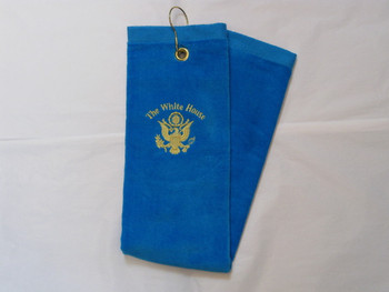 The White House Golf Towel/Gold Embroidered