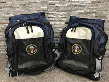 STUNNING  COMPUTER BACKPACK/DOS Logo embroidered