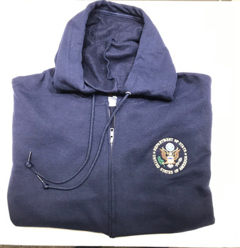 Deluxe Zipper Hoody/DOS logo embroidered