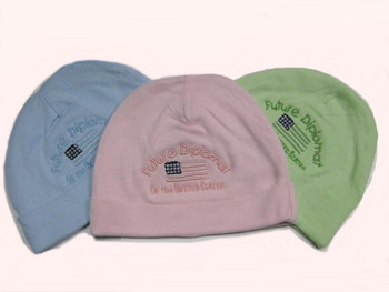 Infant Rib Knit Beanie/Future Diplomat Embroidered