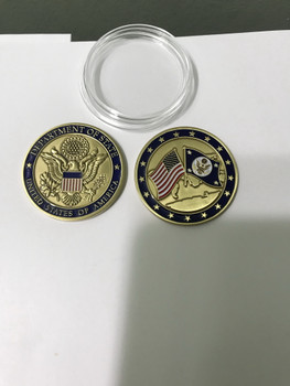 DOS & USA CHALLENGE COIN in Acrylic Case