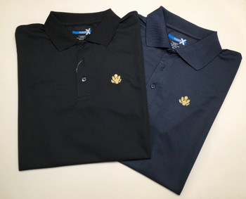 Polo Moisture Wicking Gold Great Seal Logo Embroidered