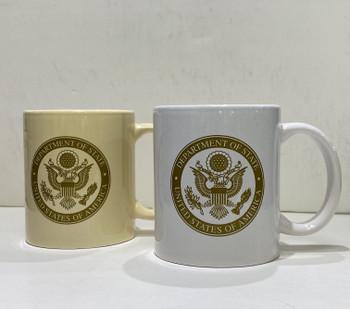 11 Oz. Coffee Mug w/DOS logo in GOLD