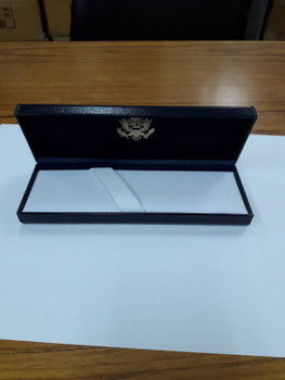 Ballpoint Pen/Diplomatic Security Logo with Navy Leatherette Box