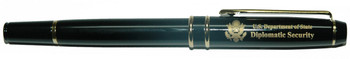 Rollerball Pen/Diplomatic Security Logo engraved with Pen Pouch