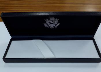 Hi-End Letter Opener/DOS Logo in Navy Leatherette Presentation Box
