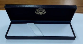 Letter Opener/Diplomatic Security Logo engraved in Navy Presentation Box