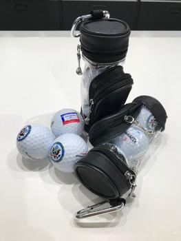Golf Balls - 3 Titleist balls with 4 Tees in Mini Bag/DOS Logo