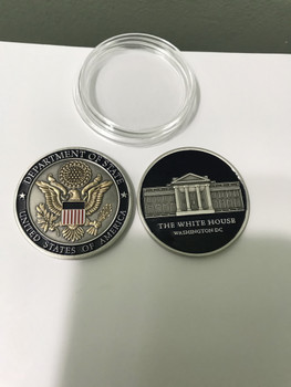 DOS/WHITE HOUSE Challenge Coin in Acrylic Case