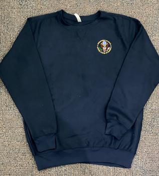 Deluxe Crewneck  Sweatshirt - DOS Logo Embroidered