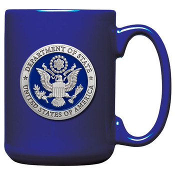 Pewter Cobalt Blue Coffee Mug/Microwavable and dishwasher safe