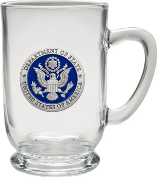 Pewter COFFEE MUG, CLEAR/Microwavable and dishwasher safe